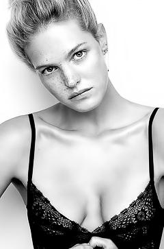 Braless blonde Erin Heatherton