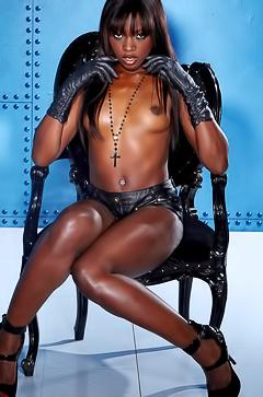 Hot black pornstar Ana Foxxx