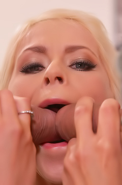 Vittoria Dolce playing with three cocks