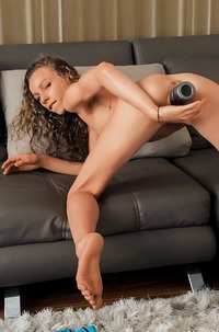Angel Emily Fucking Herself With Giant Dildo