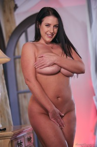 Angela White Playing With Her Giant Boobs