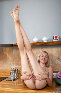 Lovely Teen Bernie Playing In Kitchen