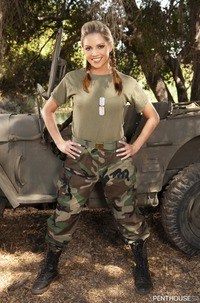 Glamour Military Model Marlie Moore