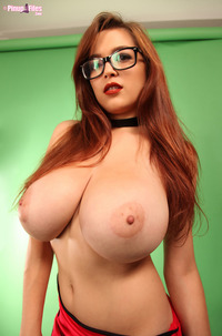 Busty Tessa Fowler In Glasses