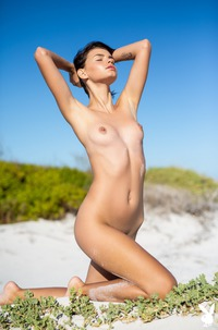 Skinny Babe Ariel Psoing Naked In Nature