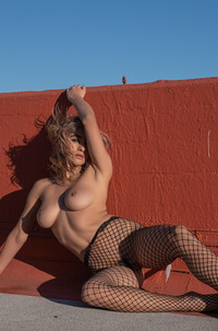 Mia Valentine Out Of Tight Fishnet
