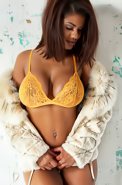 Sophia Lares in sexy yellow lingerie