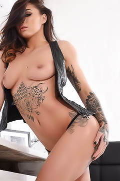 Tattooed hot babe Mica Martinez