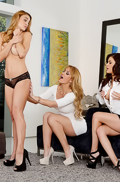 Angela Sommers and her gfs