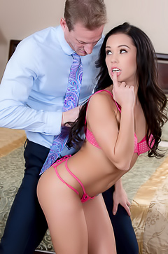 Megan Rain charms a man