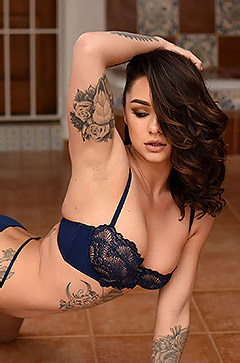Mica Martinez In Her Blue Lingerie