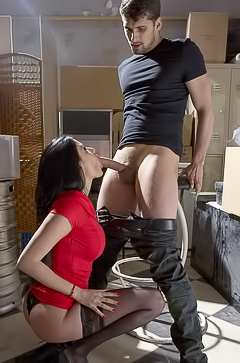 Pornstar Anissa Kate is fucking in stockings