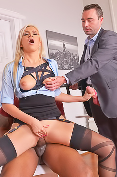 Layla Price in hardcore office threesome