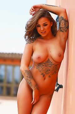 Mica Martinez - tattooed model with amazing body