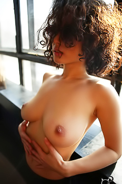 Busty curly model Shpitsy