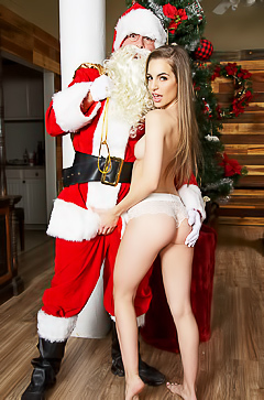 Kimmy Granger is fucked by Santa