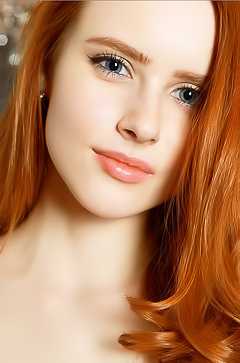 Natural beautiful redhead girl Bella
