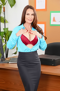 Diamond Foxxx stripping in office