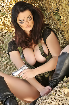 Action Girl Dana Hamm in Camouflage