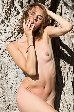 Naked Wild Girl Gracie Stripping Outdoor