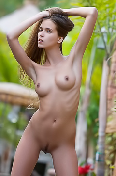 Beautiful Simona charms you out of your pants