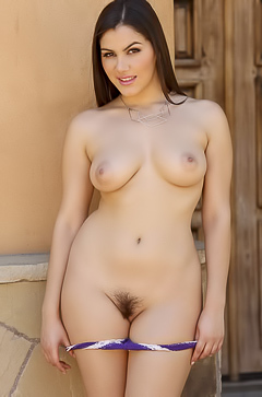 Valentina Nappi Playing With Hairy Pussy