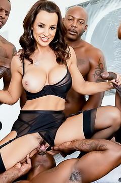 Lisa Ann Banged by 5 Black Men