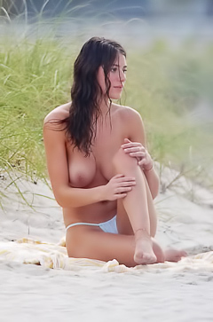 Alejandra Guilmant Showing Off Her Big Bare Boobs