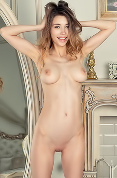 Mila Azul Showing Her Big, Round And Young Tits