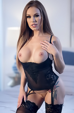 Megan Rain In Black Lingerie picture gallery