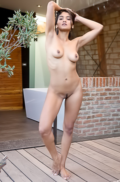 Being bold getting naked outside