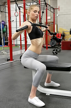 Fit babe Ava Parker is enjoying a hard cock in the gym
