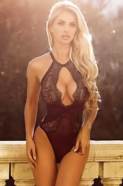 Leanna Bartlett trying out several lingerie outfits