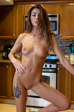 Nude Collection In The Kitchen