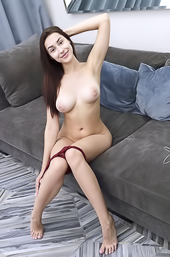 Angelina S With Huge Natural Boobs