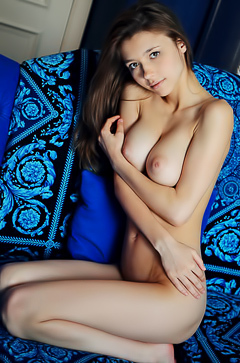 Hot Busty Mila Azul Posing In A Hotel