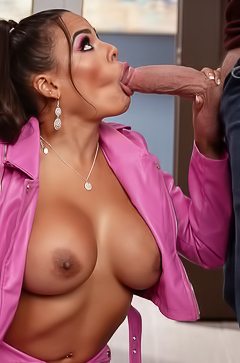 Luna Star Sucking Big Fat Cock