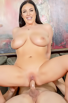 Busty Angela White Rides Cock Like Wild Woman