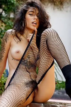 Hades Xxx Pics In Sexy Fishnet