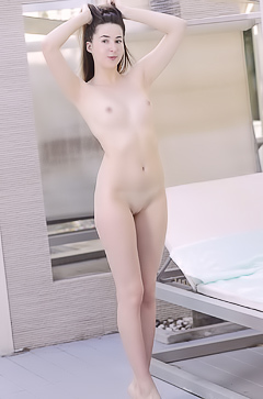 Margaret Clay Exposing Her Shaved Pussy