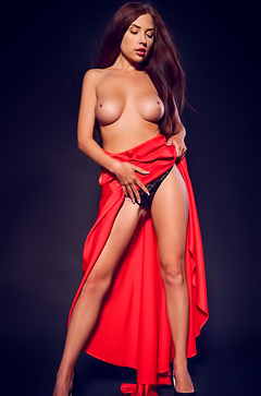 Busty Niemira In Sexy Red